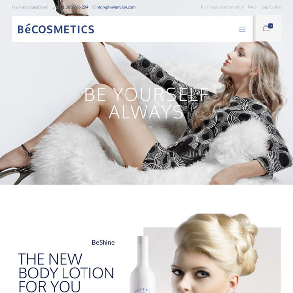Beauty and cosmetics store website.