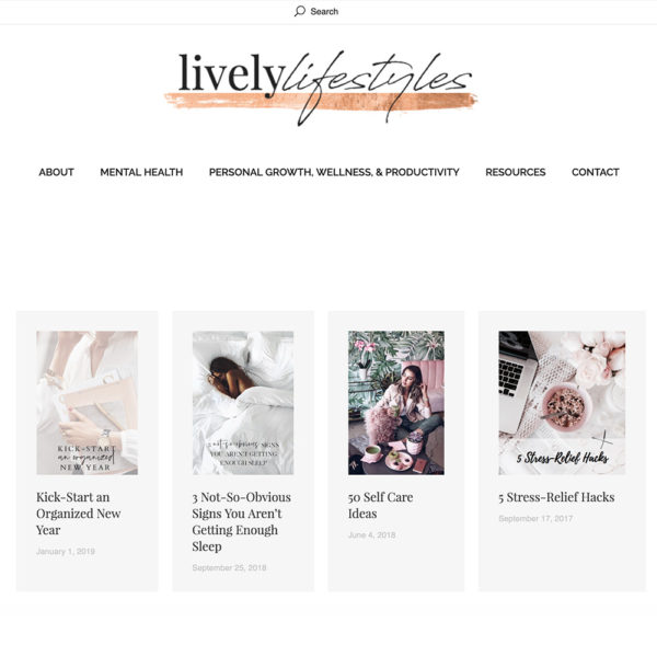 Lively Lifestyles is wellbeing blog where you can read and learn about ways to improve all aspects of your life.