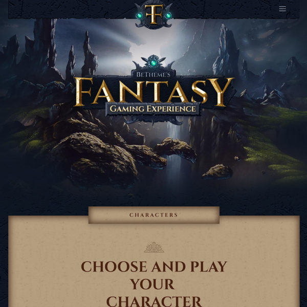 Gaming experience website.