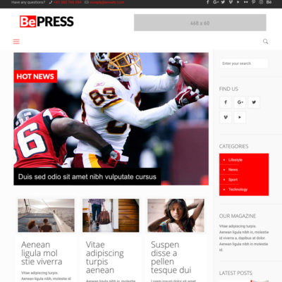 Corporate package perfect newspaper, blog and magazine website.