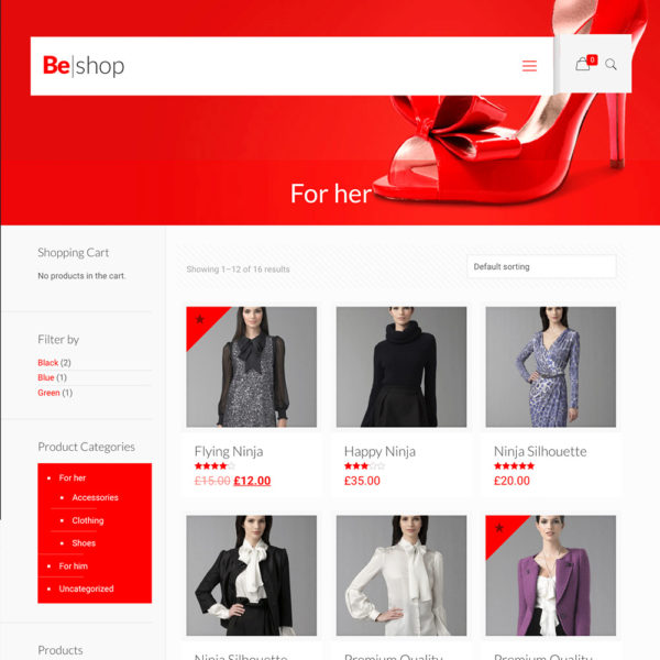 Clothing store website
