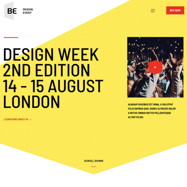 Events, conferences, exhibitions and more website templates