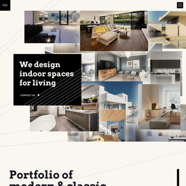 Modern interior design website dedicated to home decoration.