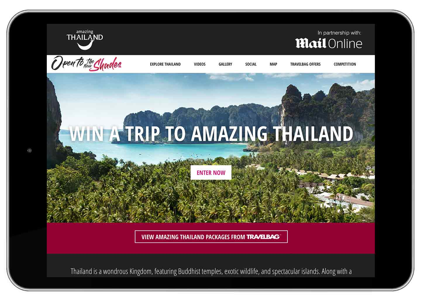 Amazing Thailand Competition - Tablet