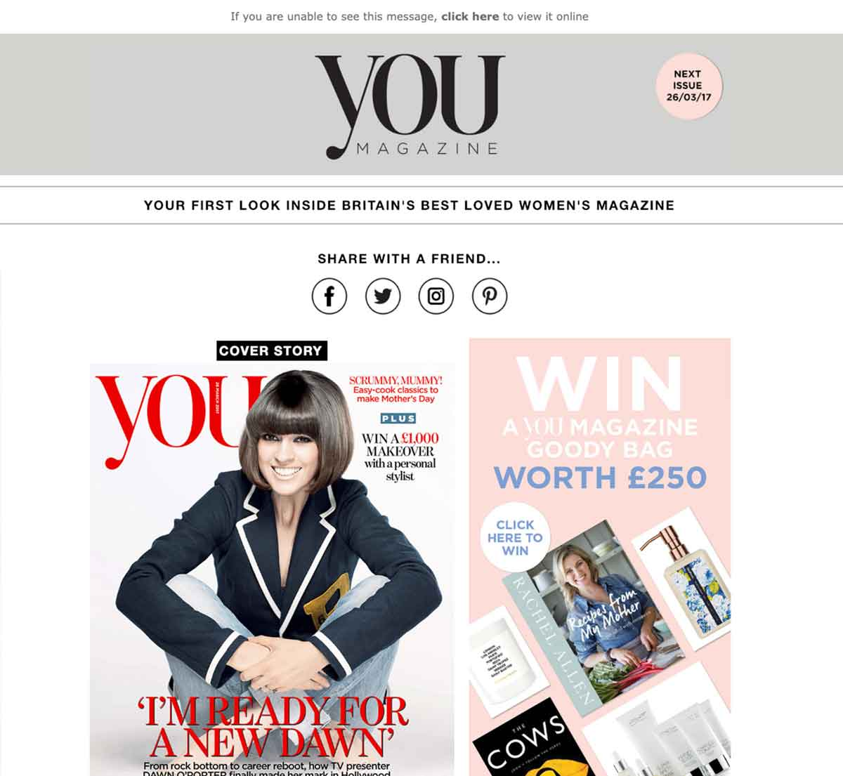 YOU Magazine HTML Email