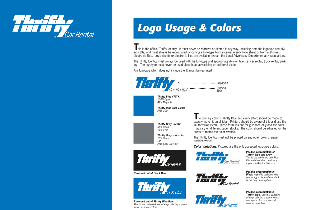 Thrifty Brand Guidelines