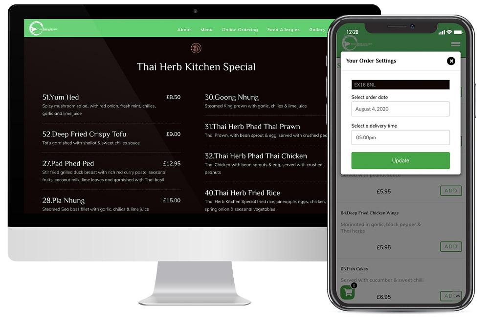 Thai-Herb-Kitchen-Online-Ordering-Website